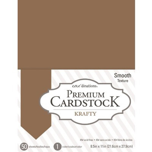American Crafts: 8.5X11 Value Pack, Kraft - Smooth 65lb