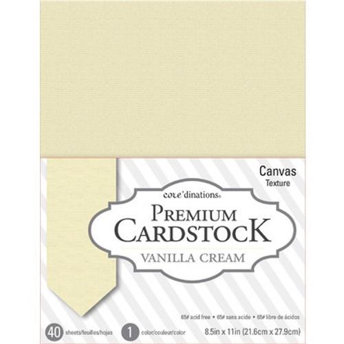 American Crafts: 8.5X11 Value Pack, Vanilla Cream - Textured 65lb