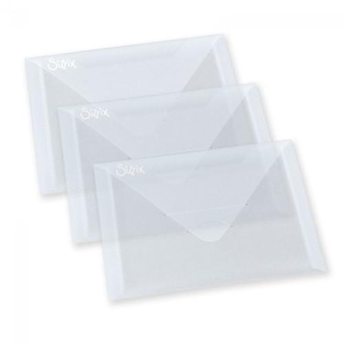 """Sizzix: Plastic Envelopes, 5"""" x 6 - 7/8"""" (3pk)"""