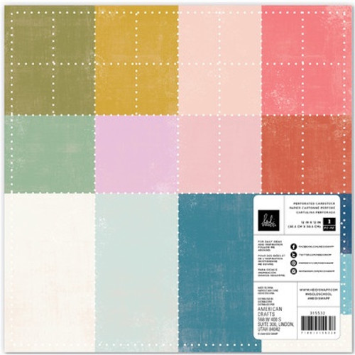 American Crafts: 12 x 12 Perforated Colored Card Stock, Heidi Swapp Old School