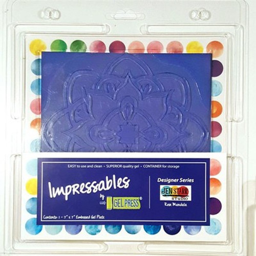 "Gel Press: Gel Plate, Impressables - Rose Mandala 7"""