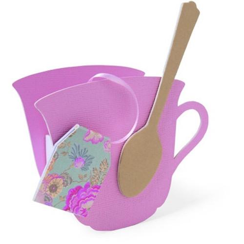 Sizzix: Bigz L Die, Teacup 3-d & Spoon