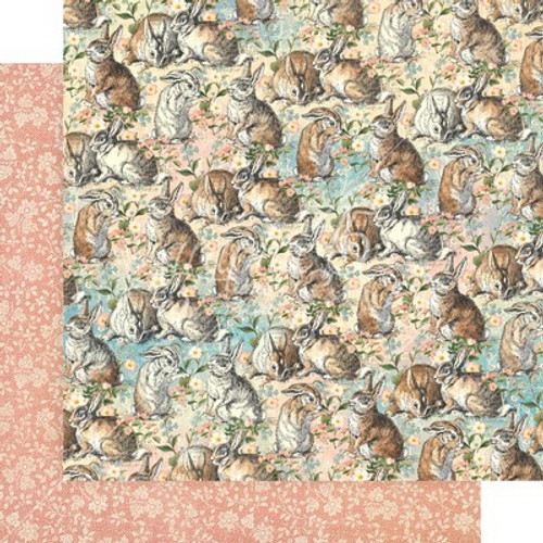 Graphic 45: 12X12 Patterned Paper, Woodland Friends - Be Kind