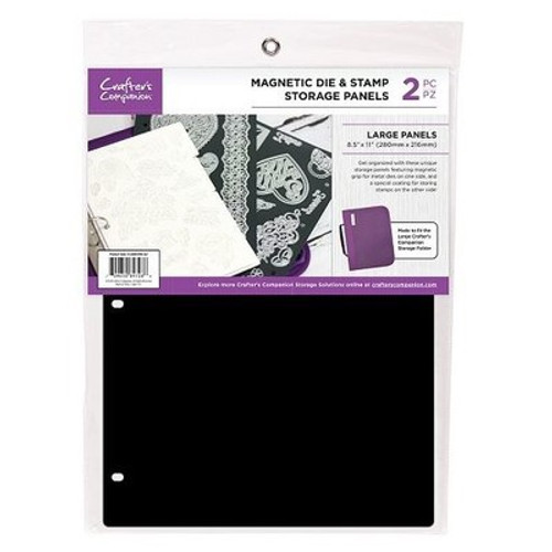 Crafter's Companion: Storage Panels, Magnetic Die & Stamp - 8.5X11 (2pk)