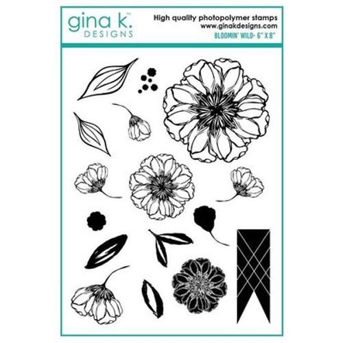 Gina K Designs: Clear Stamp, Bloomin Wild