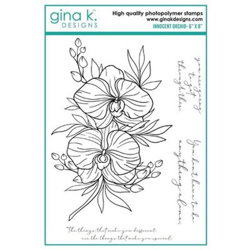 Gina K Designs: Clear Stamp, Innocent Orchid