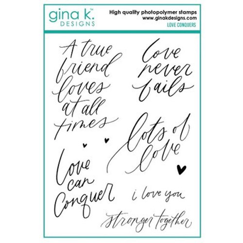 Gina K Designs: Clear Stamp, Love Conquers