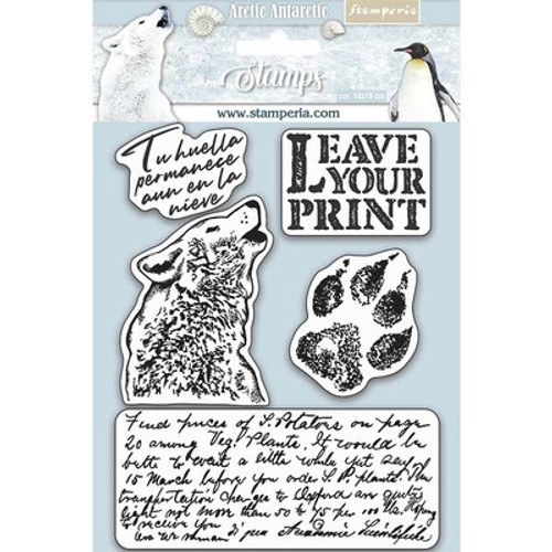 Stamperia: HD Natural Rubber Stamp, Aa - Leave Your Print