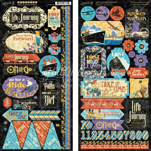 Graphic 45: Stickers, Life's a Journey