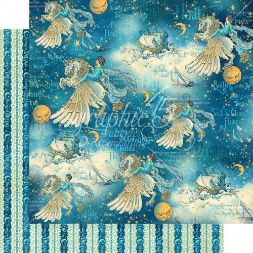 Graphic 45: 12X12 Patterned Paper, Dreamland - Unicorn Fantasy