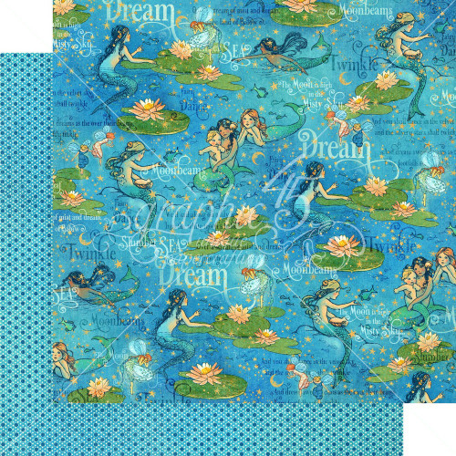 Graphic 45: 12X12 Patterned Paper, Dreamland - Moonbeam Dance