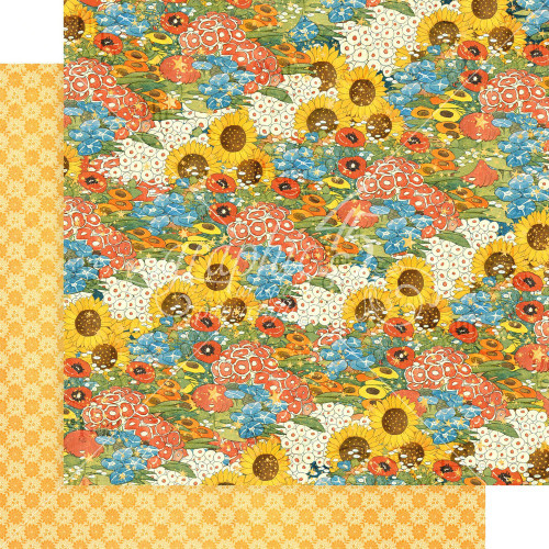 Graphic 45: 12X12 Patterned Paper, Dreamland - Blossom Bright