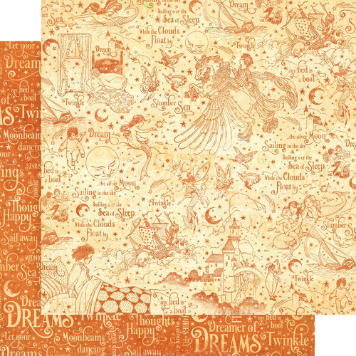 Graphic 45: 12X12 Patterned Paper, Dreamland -  Slumber Sea