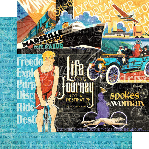 Graphic 45: 12X12 Patterned Paper, Life's a Journey