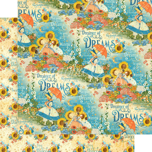 Graphic 45: 12X12 Patterned Paper, Dreamland - Enchanted Garden