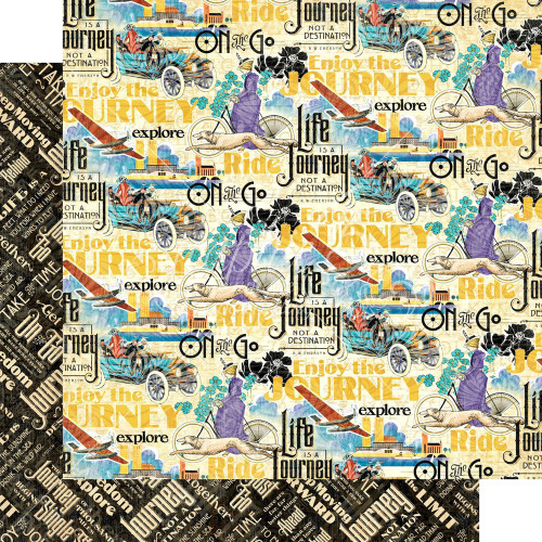 Graphic 45: 12X12 Patterned Paper, Life's a Journey - Find Adventure