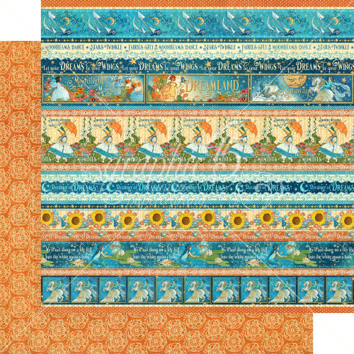 Graphic 45: 12X12 Patterned Paper, Dreamland - Magical Moments