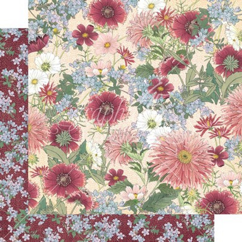 Graphic 45: 12X12 Patterned Paper, Blossom - Flourish
