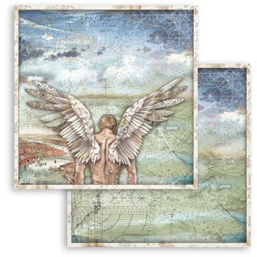 """Stamperia: 12"""" x 12"""" Patterned Paper, Sir Vagabond - Wings"""
