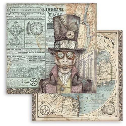 "Stamperia: 12"" x 12"" Patterned Paper, Sir Vagabond"