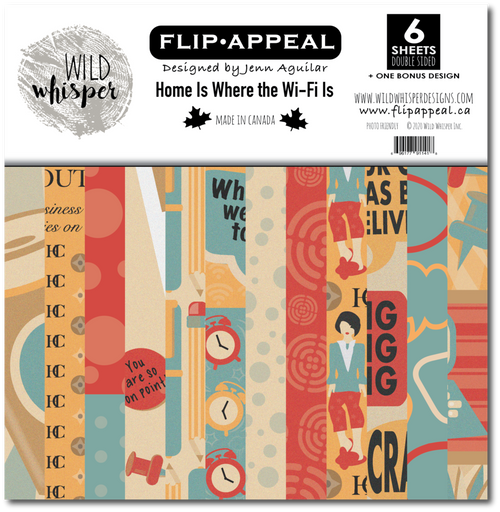 Wild Whisper Designs: 12x12 Paper Pack - Home is Where the Wi-Fi Is by Flip Appeal Designs