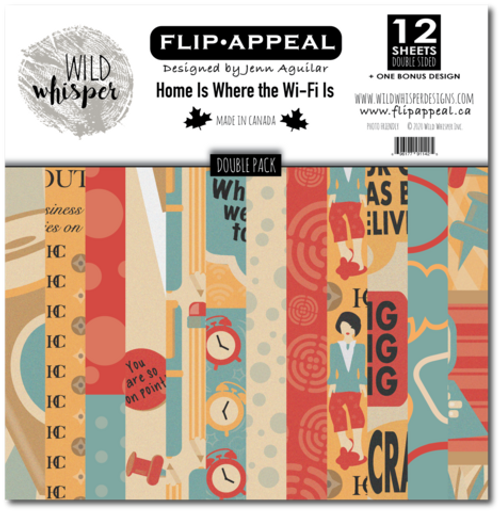 Wild Whisper Designs: 12x12 Double Paper Pack - Home is Where the Wi-Fi Is by Flip Appeal Designs