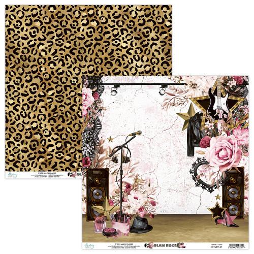 Mintay By Karola: 12 x 12 Patterned Paper, Glam Rock - 01