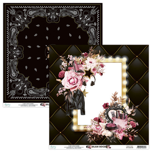 Mintay By Karola: 12 x 12 Patterned Paper, Glam Rock - 02