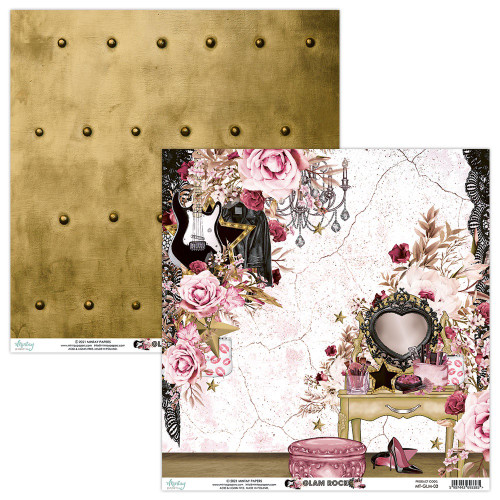Mintay By Karola: 12 x 12 Patterned Paper, Glam Rock - 03
