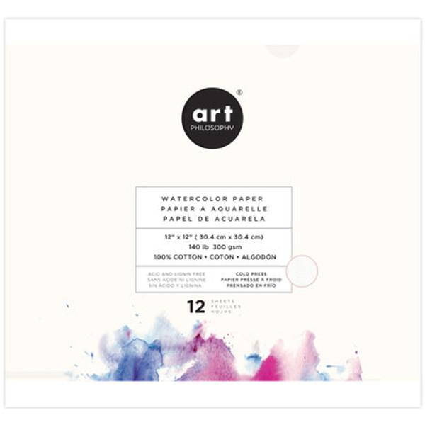 Prima: Art Philosophy 12x12  Watercolor Paper Pad