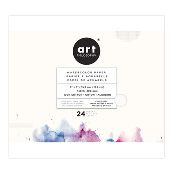 Prima: Art Philosophy 6x6 Watercolor Paper Pad