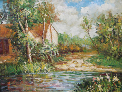 """24"""" x 20"""" DSC06983 Hand-painted, signed, scenic-landscape oil painting"""
