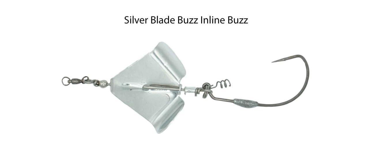 Snakehead Silver Inline Buzz Bait