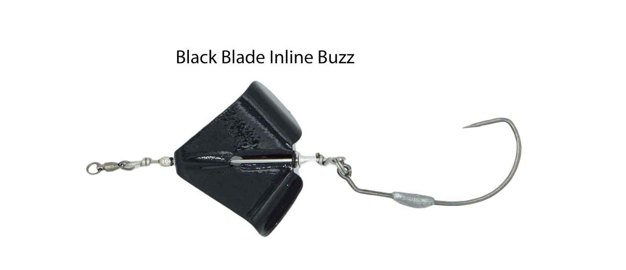Snakehead Black Inline Buzz Bait