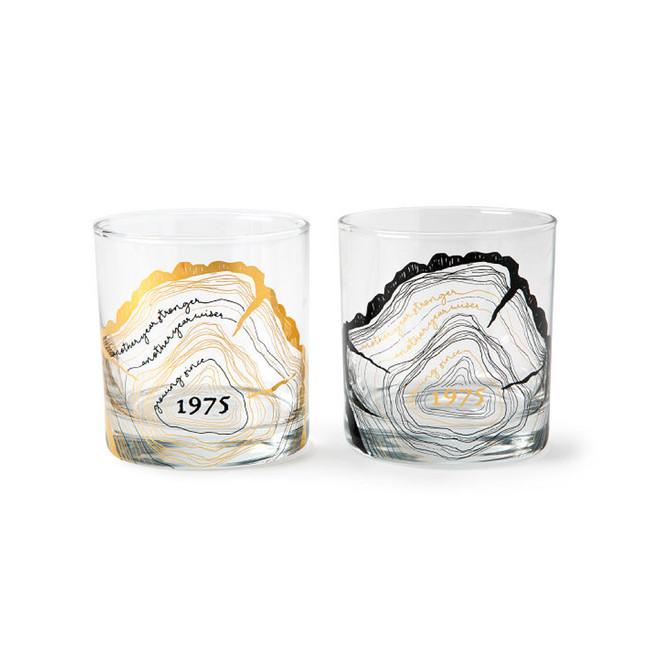 Rings of Celebration Birthday Glass