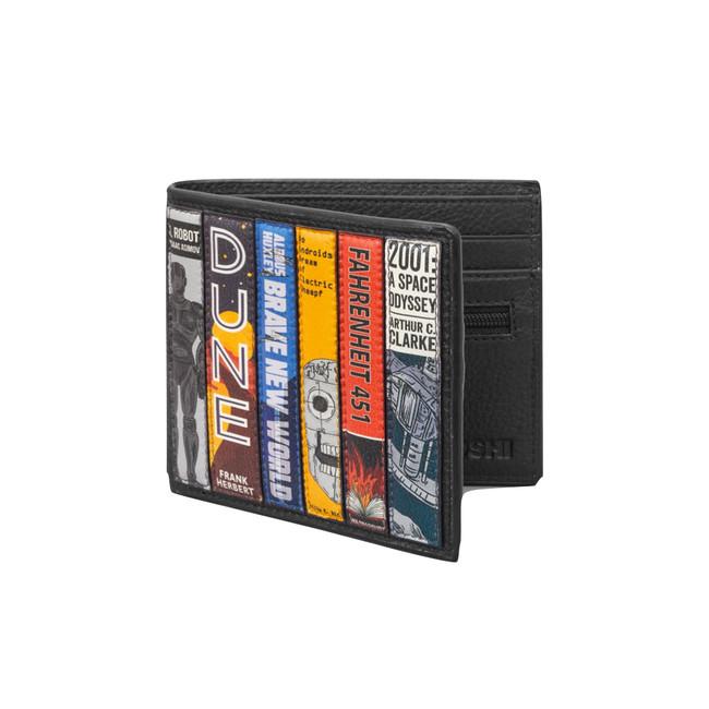 Sci-Fi Bookworm Black Leather Wallet