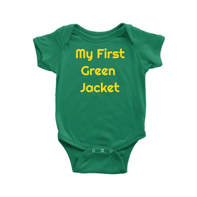 """Augusta Baby Onesie """"My First Green Jacket """""""