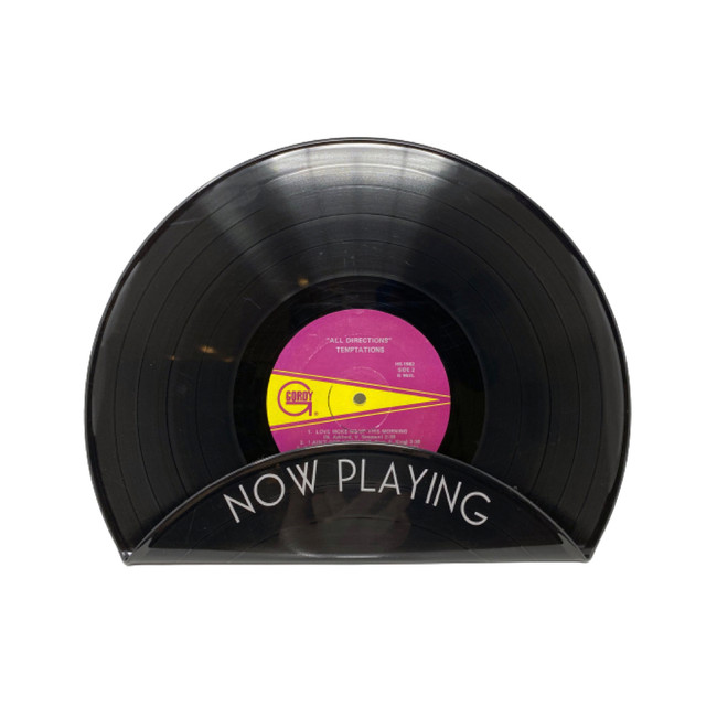 Recycled Vinyl Record Album Cover Display Stand