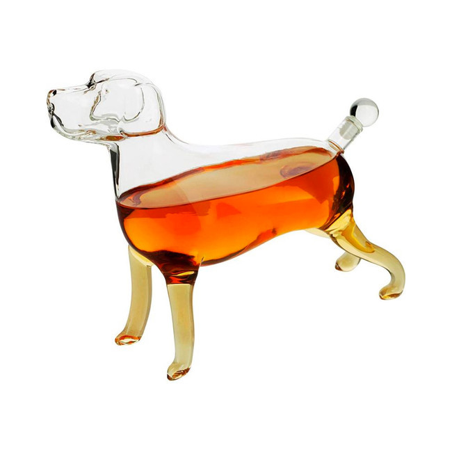 Labrador Whiskey and Wine Decanter
