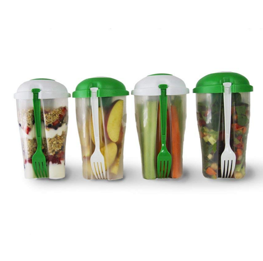 Portable Salad Container (2-pack)