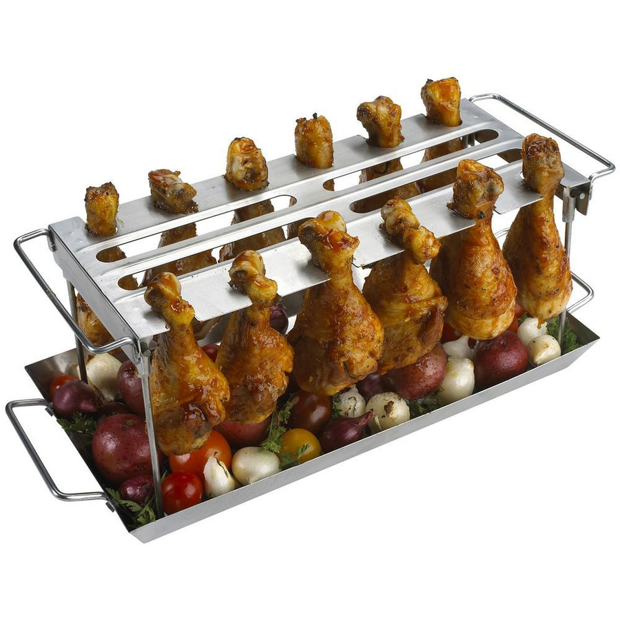 Anti-Flare-Up Grilled Chicken Wing Rack
