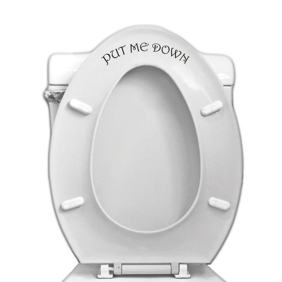 Put Me Down Toilet Seat Decal