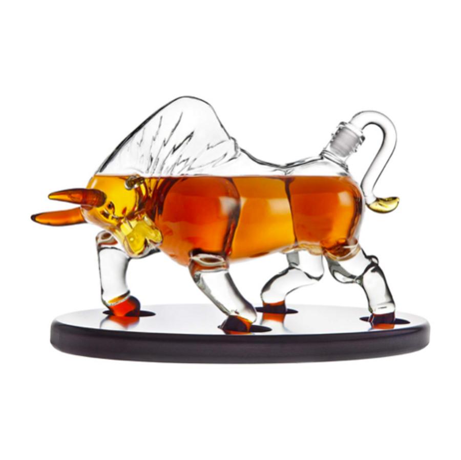 Bull Whiskey Decanter