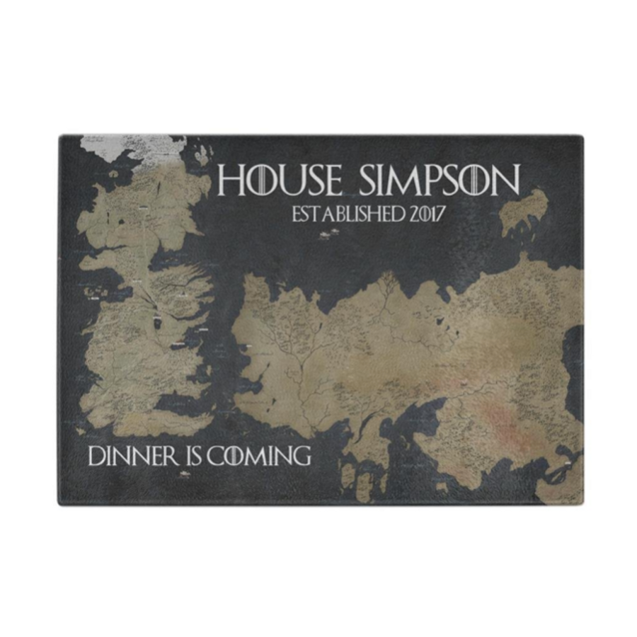 Customizable Game of Thrones Cutting Board