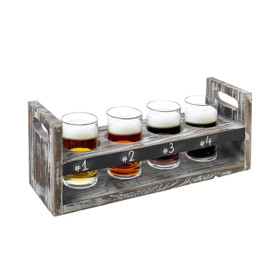 Craft Beer Flight with Chalkboard