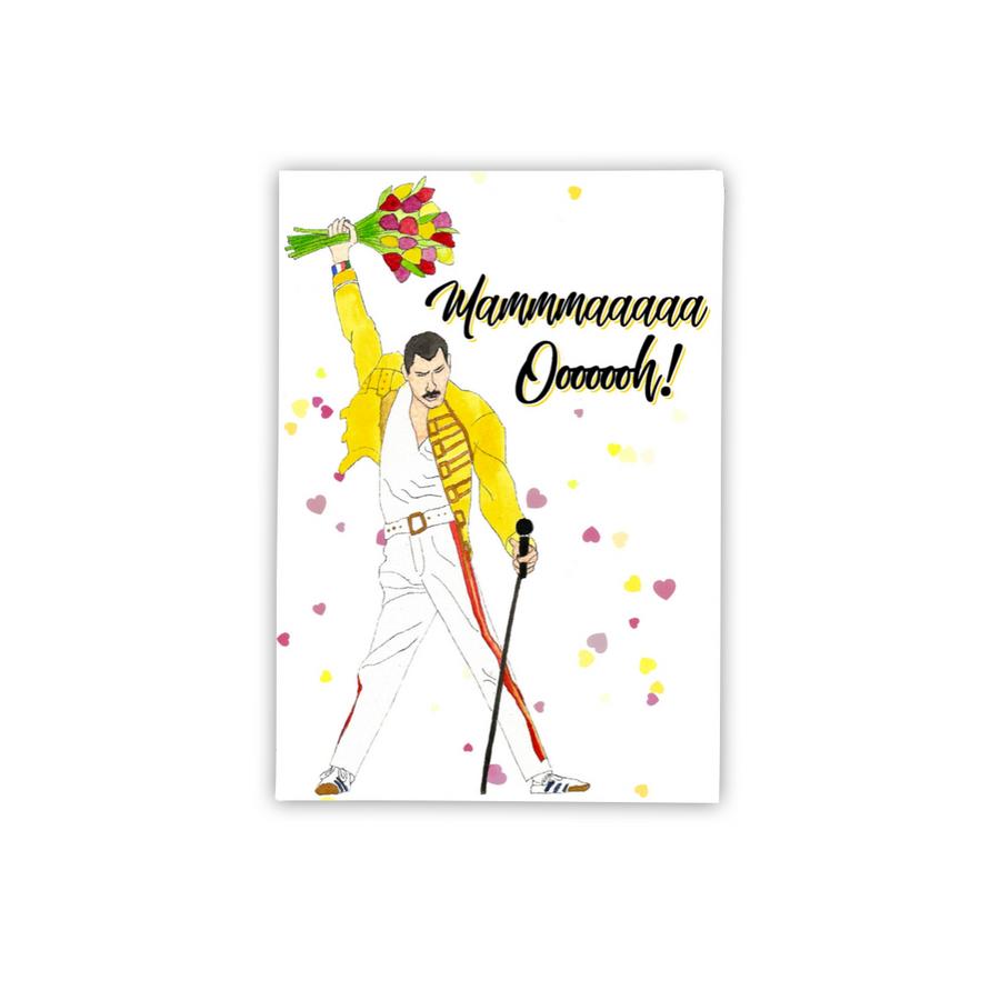 Freddie Mercury Mama Card