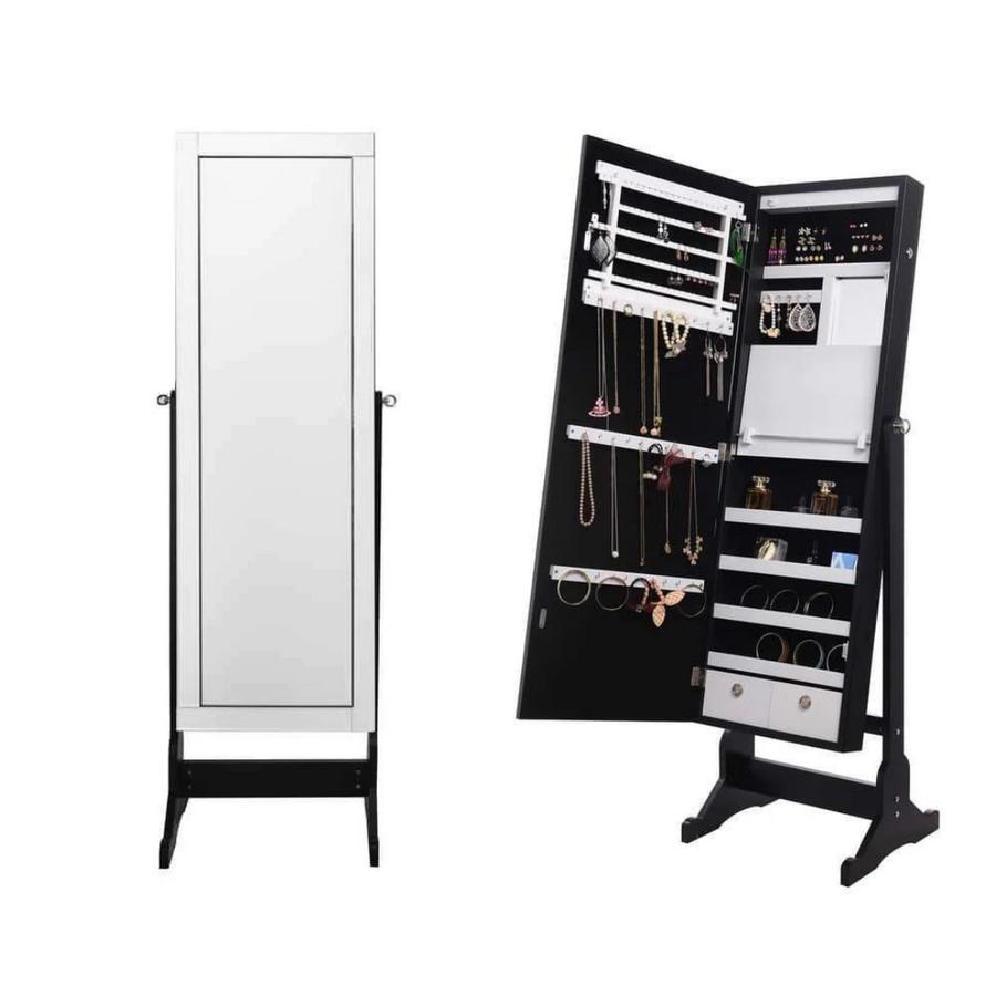 Radiant Cheval Mirror Jewelry Armoire