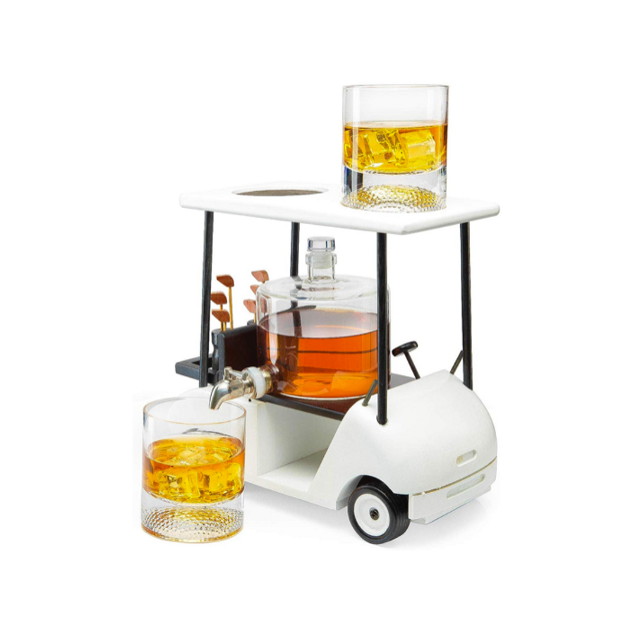 Golf Cart Whiskey Decanter Set