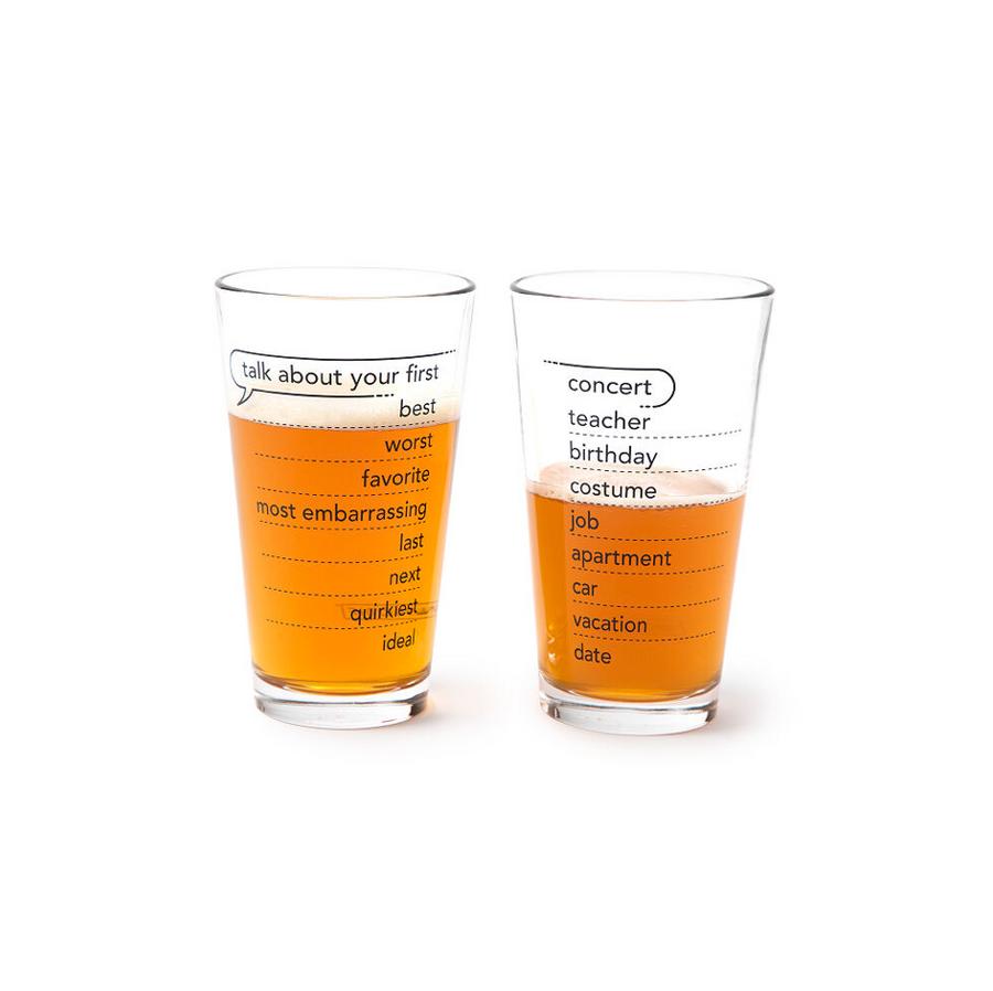Talking Pints - Conversation Glassware