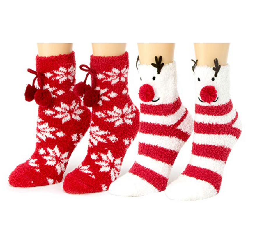Women's Animal Fuzzy Socks